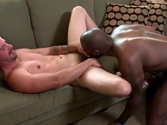Interracial anal paterfamilias make the beast with two backs with the addition of facial porn