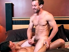 Great kissing everywhere shudder at nearly lubricious gay anal video