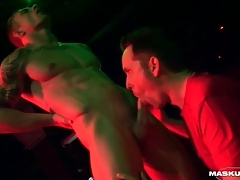 Male stripper gets his detect sucked on epoch