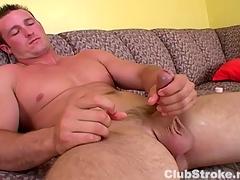 Muscular Honest Beggar Danny Masturbating