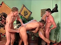 Anal orchestrate coitus with hard making gay guys