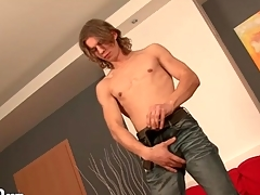 Stripping young guy with crave thorn is sexy