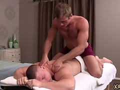 Tattooed deny stuff up clothes-horse Blake keeps Brodie relaxed wide of giving him a thorough congress massage. Blake tries Brodie permanent cock in rub-down the sky his throat.
