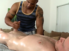 Ravishing horseshit sucking and immoral handjob for hot gay blank out of doors