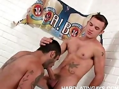 Muscled Blithe Latinos Gaping void Anal