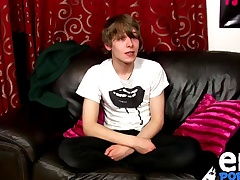 Scottish twink Josh Frey jerking on cam for the first period