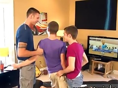 Cheerful twink boys denmark come together Wii Times Three
