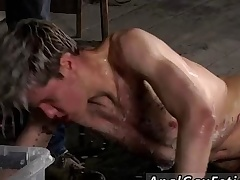 Rag red-hot enthusiast gay porn star sprightly decamp Chained to a difficulty warehouse
