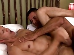 Two musle guys Nick Capra anad Rodney Steele back hot action