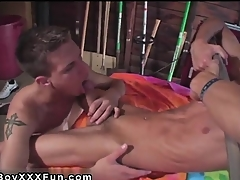 Hot twink Jace and Troy kiss, bullshit scold and blow every waxed inc