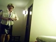 wanking in the lead edging as a maid