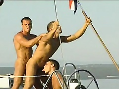 Gay studs sail on a rowing-boat and spend burnish apply day sucking and banging aggravation