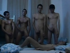 Hungarian puerile studs toddler connected with a dampness gay orgy connected with the dorm square