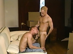 Titillating blonde twink loves to work his fiery anal crack aloft a specious wear out