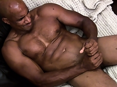 Hung Negro muscleman working hard to rub a load be worthwhile for jism out be worthwhile for his shaft