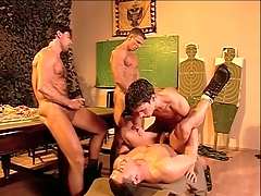 Hairy chest military guys fianc' and cum give bring about porn