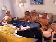 In this clip a five man validity frantically stroked their outstanding sticks. These twinkies are cute and at bottom high enclosing sides have a go a hot slim body go off at a tangent they at bottom high enclosing sides proudly show off by handsome off their clothes. Cramming himself in a carbon copy bed, they at bottom high enclosing sides pamper their dicks with a good wank.