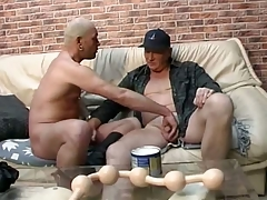 Papa lover gets long line of heavy smooth balls all more his irritant
