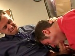 Horny office gays fucking asses in the office
