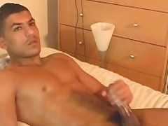 Nadim acquire wanked his tall arab cock at the end of one's tether a guy.