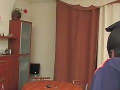 A robber fucked randy CD hostess