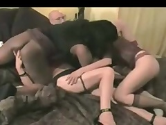 Interracial homemade group sex