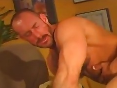 Bear fucks mature guy