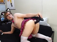 Femboy SchoolGirl Plays in 4 Toys