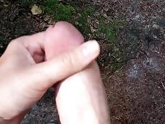 Curt cumshot outdoor in chum around with annoy woods